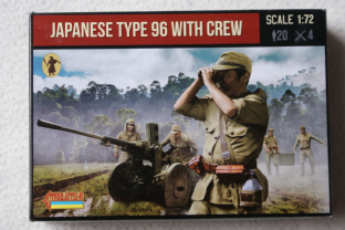 Strelets 1/72 ST0139 Japanese Type 96 25mm AA/AT Gun with Crew (WW2)